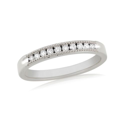 White Gold Diamond Channel Set | Eternity Ring | DR1305W